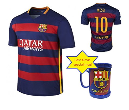 best sneakers 345b4 420c5 Barcelona Home Suarez #9 / Messi #10 / Neymar #11 Football Soccer Kids  Jersey with Free Shorts 2015-16