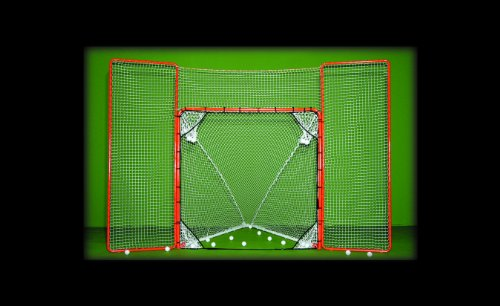Brand New EZGoal Lacrosse Folding Goal with Backstop and Targets Orange
